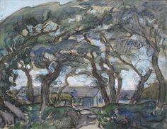 A. Lavieille Ferme de Kernévénas (aquarelle) (24 x 31,5 cm)
