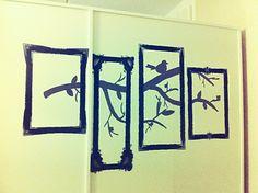 Painted wall art diy