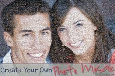 With EasyMoza you can make your own photo mosaic online. It´s FREE Use your own photographs and print your photo mosaic anywhere you like. EasyMoza is the easiest photo mosaic software available. Diy Photo, Photo Craft, Photo Projects, Craft Projects, Craft Gifts, Diy Gifts, Photo Mosaic, Dating Divas, Collage