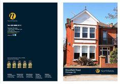 Northfields Estate Agents Branding - Sales Brochure Design  - #brochuredesign #estateagents #branding #property #realestate #marketing #design #graphicdesign