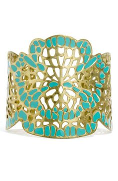 Turquoise and Gold Cuff ~ Boho ✨ Fashion Jewelry & Accessories ✨ Arm Candy ✨ I Love Jewelry, Jewelry Box, Jewelry Accessories, Fashion Accessories, Jewelry Design, Fashion Jewelry, Boho Fashion, Jewlery, Pierre Turquoise