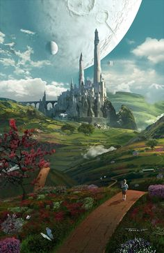 50 Ideas landscape concept art tutorial design illustrations for 2020 Fantasy Artwork, Fantasy Art Landscapes, Fantasy Concept Art, Fantasy Landscape, Fantasy City, Fantasy Castle, Fantasy Places, Fantasy World, Environment Concept Art