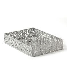 Great for sorting carded buttons - going to use in workroom. Look at this #zulilyfind! Victorian Lace Cutlery Tray by AQ #zulilyfinds