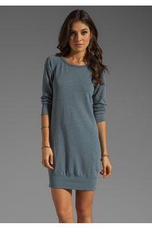 James Perse Raglan Sleeve Sweatshirt Dress in Gray (silverfox) | Lyst
