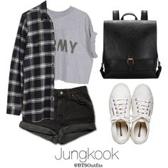 Fair with Jungkook by btsoutfits on Polyvore featuring mode, Madewell, Levi's and Henri Bendel