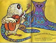owl and pussycat, a lovely '70s illustration.