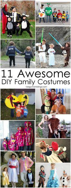 Great creative DIY Family Halloween costumes