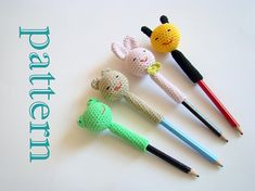This is not the item itself, it is crochet pattern of animal pencil toppers. After long holidays it is a bit difficult for kids to get up early and go back to school. Make it fun with these pencil toppers.  This is a very easy project that can be completed in a few hours with basic crochet stitches using your leftover yarns. You can make as party favors for baby showers, birthday parties.  The pattern has written instructions for frog, bunny, bee and bear pencil topper.  Please respect the…