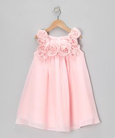 Another great find on #zulily! Pink Rosette Dress - Infant, Toddler & Girls #zulilyfinds