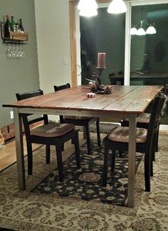 Enjoy A Breath Taking And Historic Barn Wood Table In Your Home We Can Kitchen DiningDining