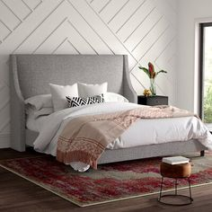 Modern & Contemporary Contract Grade Platform Bed Frame Without Headboard Joss And Main, California King, Wingback Bed, Tufted Bed, Upholstered Platform Bed, Bed Platform, Headboard And Footboard, Headboards, Adjustable Beds