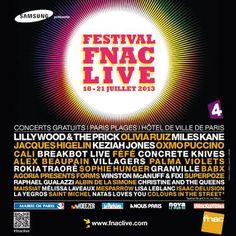 Festival Fnac Live 2013. Tour Posters, Tours, Concert, Posters, City, Concerts