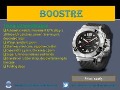Booster #automatic diver watches for men by #Edmond_Watches