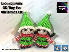 Loomigurumi Elf Tiny Tot Christmas Figure  - amigurumi w/ Rainbow Loom B...