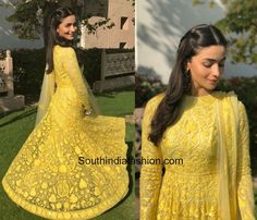 Alia Bhatt in Manish Malhotra for her friends mehendi in Jodhpur photo