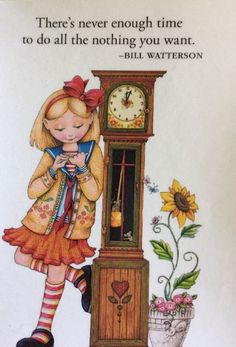 Handmade Fridge Magnet-Mary Engelbreit Artwork-There's Never Enough Time