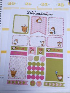 Hey, I found this really awesome Etsy listing at https://www.etsy.com/listing/240774817/life-planner-little-fox-layout-set