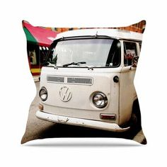 East Urban Home VW Bus Angie Turner Throw Pillow Size: