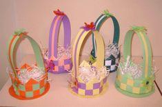 paasmandje knutselen - Liselotje en het paasfeest