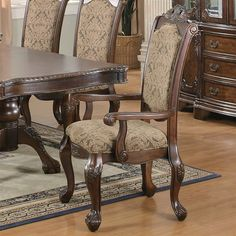 Coaster Fine Furniture 103113 Andrea Arm Dining Chair (Set of 2) at ATG Stores