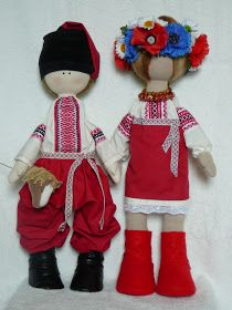 Ukrainian.  Traditional Folk Russian cloth Doll