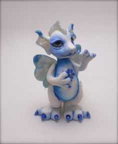 """Adorable polymer clay baby dragon """"Aurora"""" by WOODLANDCRITTERS on Etsy"""