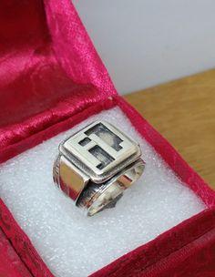 """Vintage Ringe - Ring 800er Silber mit Initialen """"FL"""" Vintage SR604 - ein Designerstück von Atelier-Regina bei DaWanda"""