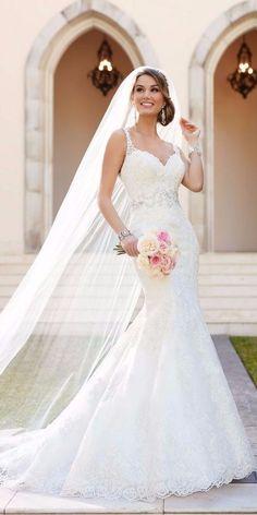 Vestido de noiva em corte sereia
