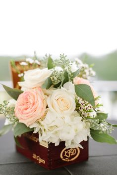 Wedding Centerpiece | Roses | Photography: Mint Photography | More on SMP: http://www.stylemepretty.com/southwest-weddings/2014/01/06/mint-equestrian-kendall-plantation-wedding/