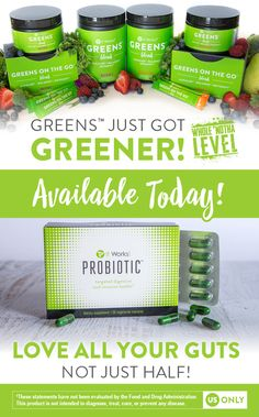 Get ready to take your biz to a #WholeNothaLevel  with the NEW It Works! Probiotic and Greener Greens ! #ItWorksGC