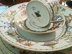 French porcelain, hand-painted in chinoiserie pattern. Tiffany & Co. 20th Century. Seen @ NYC.