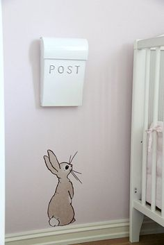 Belle and boo wall decal - Decoration for House Bunny Room, Bunny Nursery, Nursery Room, Girl Nursery, Girl Room, Kids Bedroom, Nursery Decor, Garden Nursery, Kids Rooms