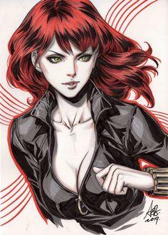 Black Widow by Stanley Lau Black Widow Avengers, Black Widow Movie, Superhero Villains, Marvel Characters, Marvel Girls, Comics Girls, Stanley Lau, Super Heroine, Manga Anime One Piece