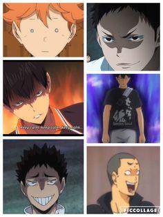 When you can't control your face| #haikyuu| Hinata, Daichi, Kageyama, Iwaizumi & Tanaka