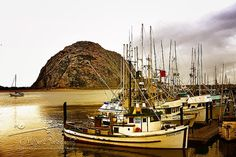 The Rock of Morro Bay California -  Fishing Boats