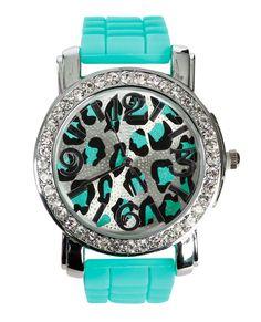 Leopard bling watch. Wow!