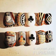 いいね!11件、コメント1件 ― nail room slottさん(@nailroomslott)のInstagramアカウント: 「▶︎▶︎▶︎tip◀︎◀︎◀︎ #nailroomslott #トランプ#trump #playingcards#carteàjouer #art#artwork#artworks…」