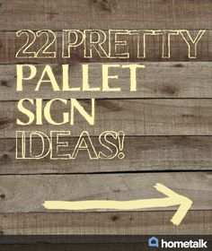 Pallet diy - 22 pretty pallet sign ideas Idea Box by Kathleen Bell Wooden Pallet Projects, Pallet Crafts, Wooden Pallets, Pallet Ideas, Pallet Wood, Pallet Boards, Outdoor Pallet, Rustic Wood Crafts, Diy Projects