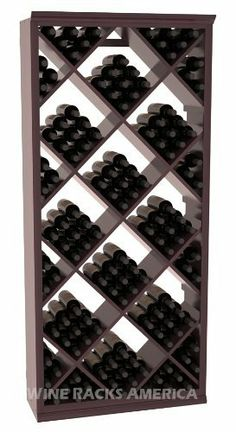 Five Star Series: 200 Bottle Diamond Wine Cellar Storage Rack in Redwood with Burgundy Stain +Satin Finish by Wine Racks America®. $1417.37. Choose From either Pine, Redwood, or Mahogany along with optional Industry Leading Quality Eco-Friendly Stains Paired with an Immaculate Satin Finish. Each have custom finishes and are professionally stained to order, so please allow a few additional days after your purchase for your order to be shipped.. Bottle capacity: 2...