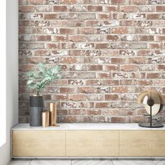 Brick Tile Wall, Brick Wall Kitchen, Faux Brick Walls, Kitchen Backsplash, Wall Tiles, Brick Wallpaper Living Room, Kitchen Wallpaper, How To Paint Brick Wallpaper, Textured Brick Wallpaper