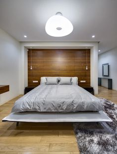Spacious Home with a Warm Interior in Kiev - Design Milk Bedroom Decor For Small Rooms, Modern Bedroom, Modern Bedding, Bedroom Ideas, Japanese Style Bedroom, Ikea, Courtyard House Plans, Cheap Bed Sheets, House Beds