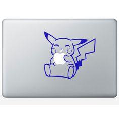 "Pikachu Macbook Decal Pokemon Sticker Apple MacBook Iphone Pro Air Mac 13"" inch Laptop Computer"