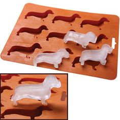 "Daschund shaped ice cubes... OMG my boyfriend would kill me if i got these.  Maybe I'll put them in my stocking and say they were from ""Santa""!"