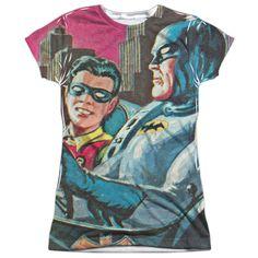 Batman Classic TV: Bat Signal Sublimated Junior T-Shirt