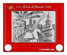 Cleveland Etch A Sketch Giclee Print