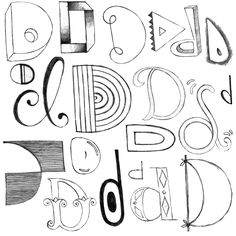 Letter D by Abi Hall