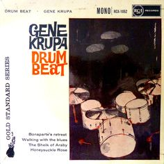 """The famous drummer Gene Krupa's 45rpm EP """"Drum Beat"""" a rare record on RCA  Gold Standard Series in Mono No RCX-1052 published in 1960"""