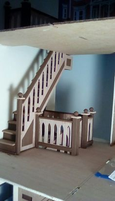 Beacon Hill 2nd Floor staircase.