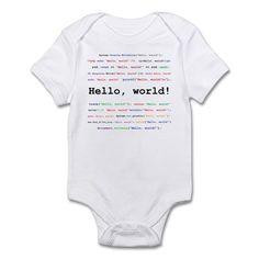 Hello, world! Body Suit on CafePress.com