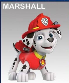 Marshall the Dalmatian: (Firepup) From the firehouse to his fire truck, Marshall is a Dalmatian who is all action, easily excited, and the clumsy o. Paw Patrol Pups, Paw Patrol Cake, Paw Patrol Party, Paw Patrol Birthday, Paw Patrol Marshall, Halloween 2018, Holidays Halloween, Halloween Party, Paw Patrol Everest